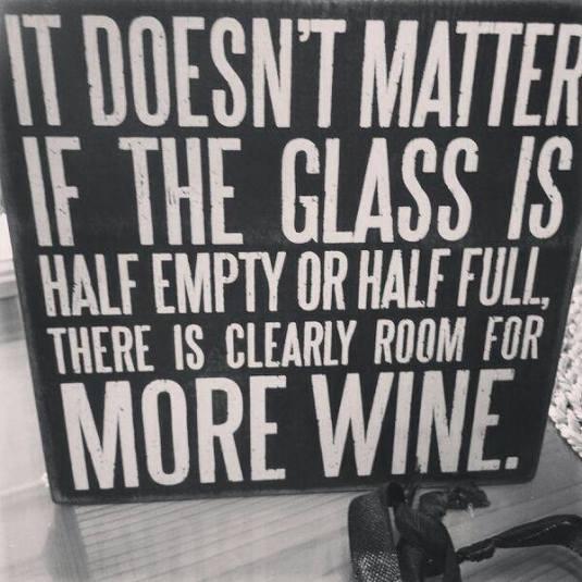 Optimist? Pessimist? Wine drinker!